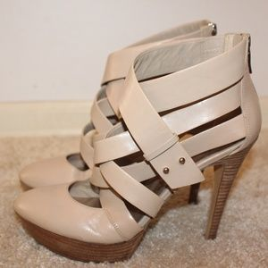 Guess By Marciano  genuine leather strap heels